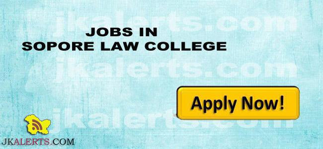 JOBS IN SOPORE LAW COLLEGE