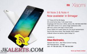 Xiaomi Mi Note 3 & Note 4 Now available in Srinagar