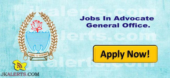 Govt Jobs in Junior Legal Assistant (State Cadre) In Advocate General Office.
