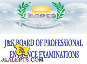 JKBOPEE Provisional Result of B. Ed., Jammu 2019 Entrance Test Result. Result of B. Ed,JKBOPEE Result Entrance Test of B.ed.