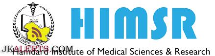 JOBS IN HAMDARD INSTITUTE OF MEDICAL SCIENCES & RESEARCH