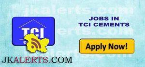 JOBS TCI CEMENTS