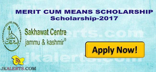 Central Sector Scheme of Scholarship (CSSS) Scholarship notification J&K.