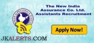 New India Assurance Co. Ltd Recruitment 2018, 653 Assistants posts, latest employment, notification
