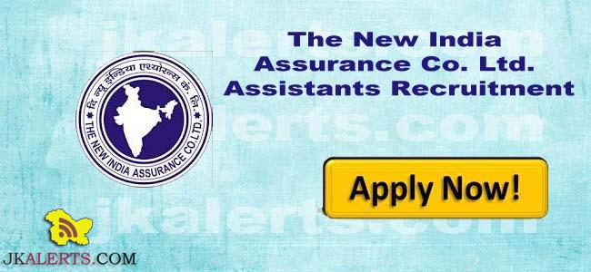 New India Assurance Co. Ltd Recruitment 2018, 653 Assistants posts, latest employment, notification