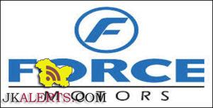 Jobs in Force Motors Dealership Jamie Power Pvt. Ltd.