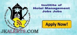 J&K NCHMCT Jobs Recruitment 2018-19. Invites application for the post of Principal in Institute of Hotel Management Srinagar IHM Srinagar.