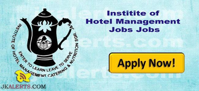 J&K NCHMCT Jobs Recruitment 2018-19. Invites application for the post of Principal in Institute of Hotel Management Srinagar IHM Srinagar.