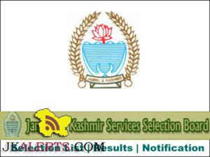 JKSSB Selection list of Forest Guard (Forest Department) various District and Divisional cadre