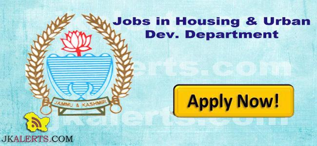 JK HUDD Jobs Recruitment 2021