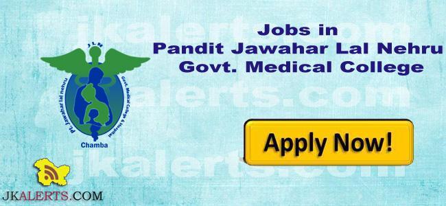 Jobs in Pandit Jawahar Lal Nehru Govt. Medical College