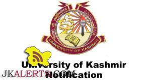 Kashmir University, List of applicants, engagement, Contractual Lecturer, KU Notification, Kashmir University Notification