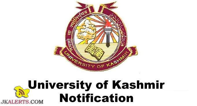 Kashmir University, List of applicants, engagement, Contractual Lecturer, KU Notification, Kashmir University Notification