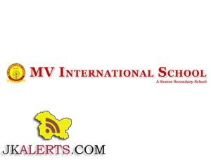 MV INTERNATIONAL SCHOOL WALK IN INTERVIEW