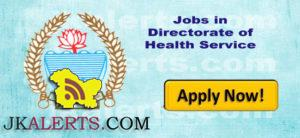 Jobs in Directorate of Health Service Jammu