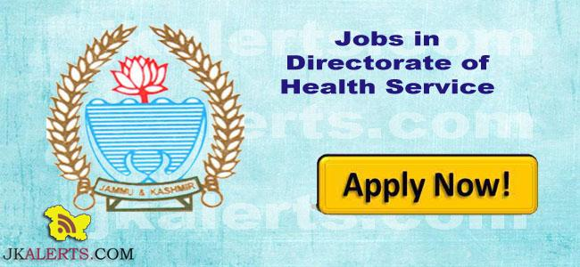 Jobs in Directorate of Health Service Jammu