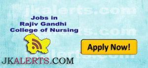 Jobs in Rajiv Gandhi College of Nursing