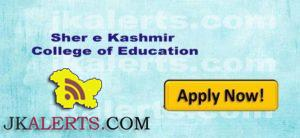 Jobs in Sher e Kashmir College of Education Jammu Gadigarh J&K.
