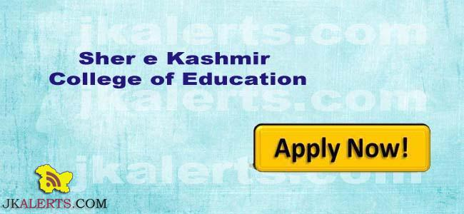 Jobs in Sher e Kashmir College of Education Jammu Gadigarh J&K.