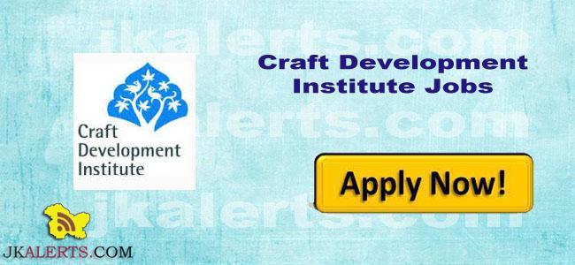 Craft Development Institute Srinagar Recruitment , Faculty / Consultants Jobs in CDI
