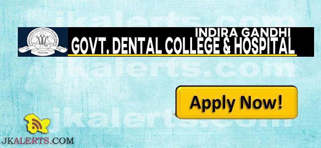indira gandhi dental college jammu jobs