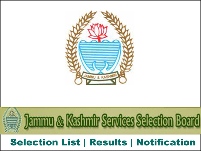 JKSSB Latest Notification, Updates