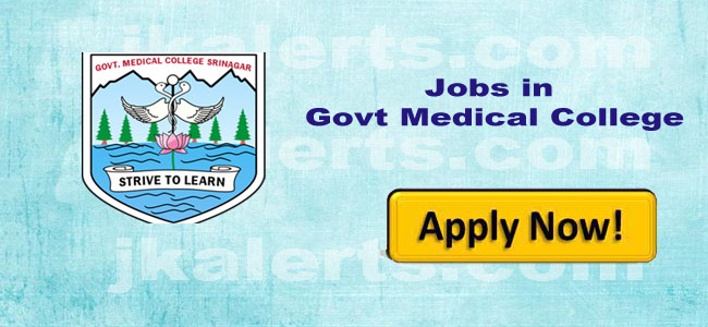 GMC Srinagar Jobs alerts and updates