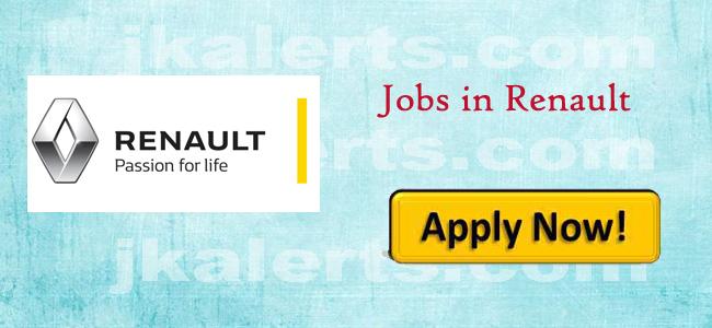 Renault Jobs Jammu Kashmir