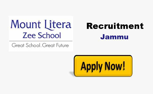 Mount Litera School jammu J&K jobs