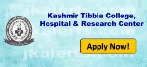 Kashmir Tibbia College,Hospital & Research Center jobs Recruitment
