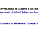 Regularization of Rehbar-e-Taleem Teachers
