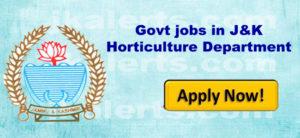 Govt jobs in J&K Horticulture Department
