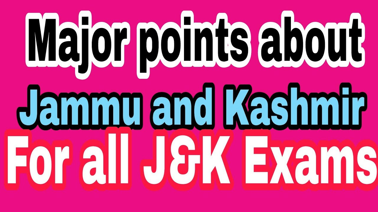Basic General Knowledge Gk Questions Answers Of Jammu And Kashmir