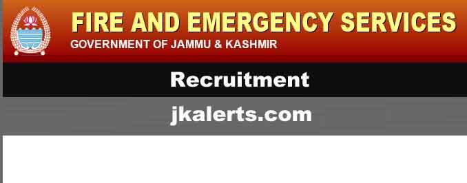J&K Fire & Emergency Services PST/ PET/ Driving Test