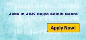 Jobs in J&K Rajya Sainik Board