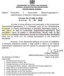 govt order