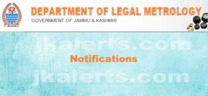 j&K legal metrology Department JKLM jkalerts_com
