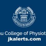 u College of Physiotherapy, JCPJammu ,Recruitment