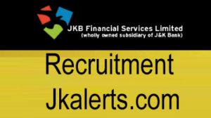JK BANK Financial Services Limited, JKBFSL Recruitment