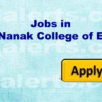 Sri Guru Nanak College of Education jobs