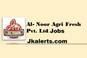 JOBS IN AL NOOR AGRI FRESH PVT LTD