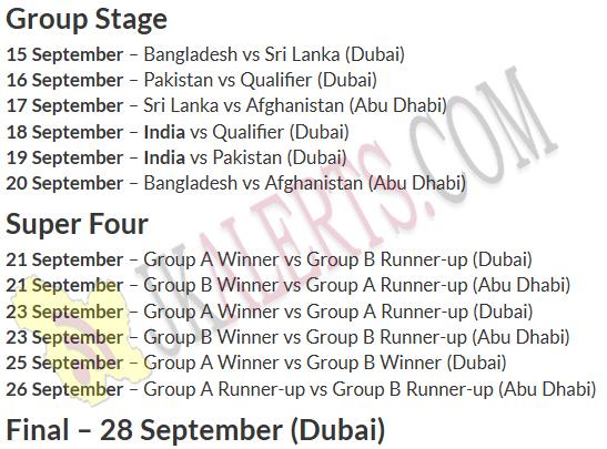 asia cup india vs pakistan