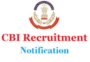 Central Bureau of Investigation (CBI) Recruitment, Inspectors posts, CBI jobs Jammu