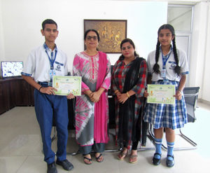 Jammu Sanskriti School, Jammu Quiz Competition in Collaboration with PCRA