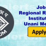Regional Research Institute of Unani Medicine RRIUM Srinagar Walk in interview