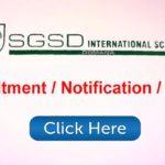SGSD International School Jobs Recruitment | Posts various