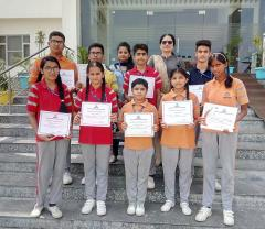 Jammu Sanskriti School, Jammu students excelled in Painting Competition.