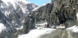 Fresh snowfall around Zijilla Pass and higher reaches of Kashmir valley