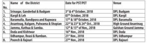 Fire & Emergency Services J&K Srinagar Conduct of PST/PET