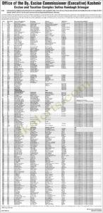 Deputy Excise Commissioner (Executive) Kashmir